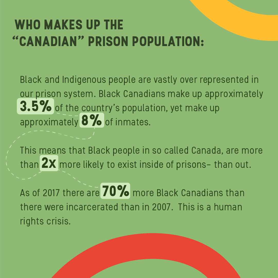 """Who makes up the """"Canadian"""" prison population:"""